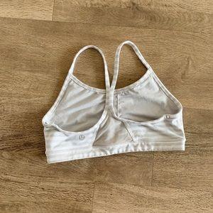 Striped lululemon sports bra